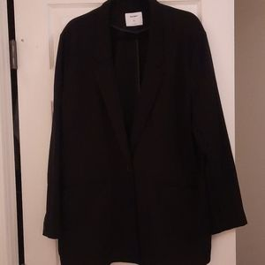 Black boyfriend blazer stretch